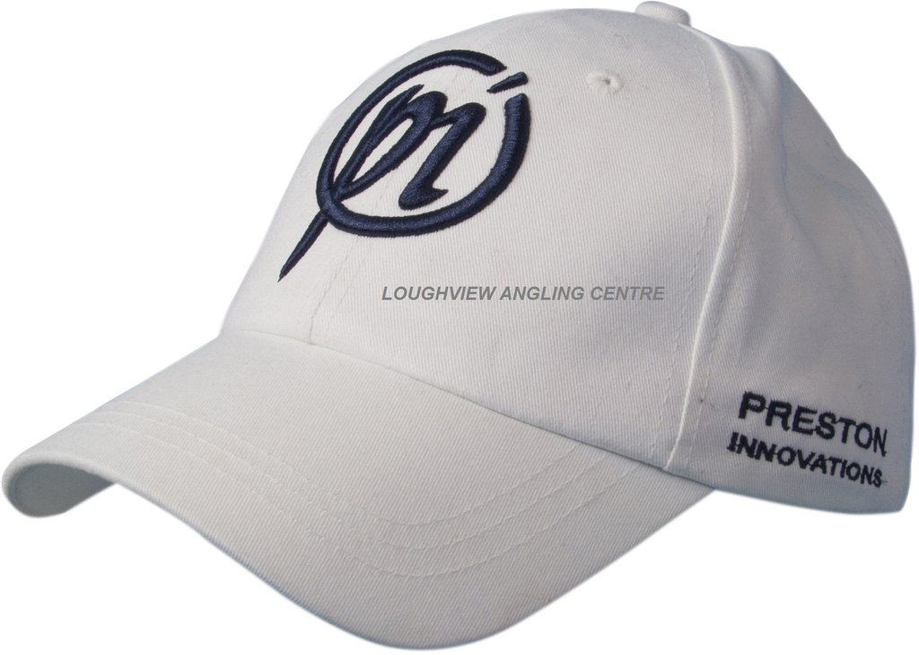 Preston White Cap NEW Coarse Fishing Baseball Cap